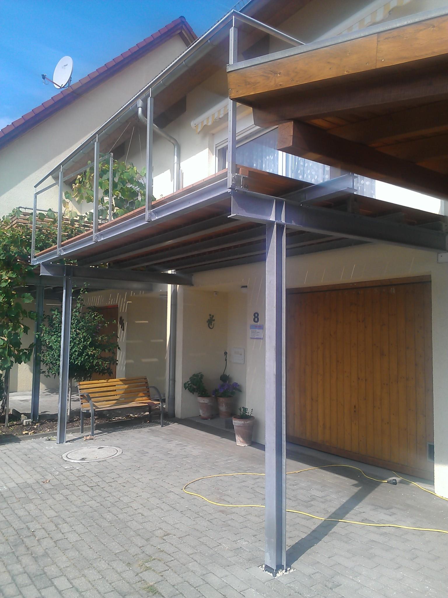 Unterkonstruktion Terrassenüberdachung : Montagearbeiten